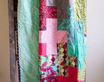Modern Lap Quilt, Ready to Ship