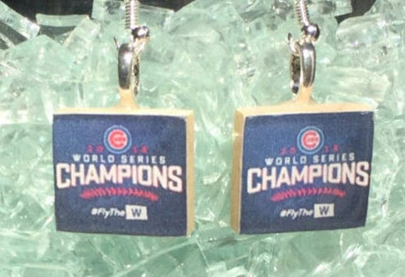 Chicago Cubs Championship Earrings