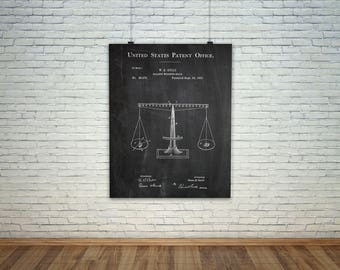 Law Patent, Lawyer Patent, Lawyer Art, Gavel Patent, Scales of Justice, Judge Patent, Court Patent, Lawyer Poster, Lawyer Gift
