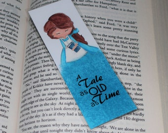 Beauty and the Beast Belle Bookmark A Tale as Old as Time Laminated