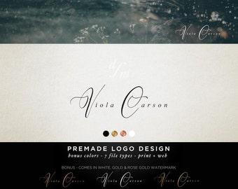Premade Logo Design - Monogram Logo - Calligraphy Logo - Initials Logo - Minimal Logo - Classic Design Business Branding Kit Custom Logo 84