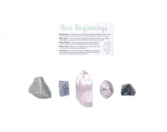 New Beginnings Crystal Set / Fresh Start Crystals / New Chapter Crystal Set / Crystals For New Beginnings / Healing Crystal Set