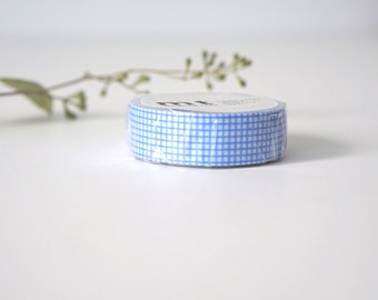 MT Sky Blue Grid Washi Tape