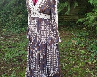 Vintage 1970's Gunne Sax Dress medium