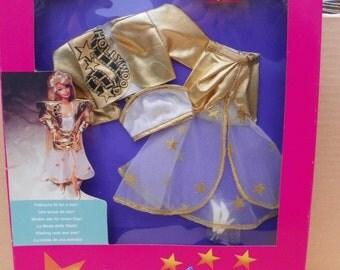 Vintage Mattel Barbie Hollywood Hair Fashions , 1992 Barbie Clothing , Doll Clothes , Mattel #01996 Barbie Doll Outfit , New Barbie Fashions