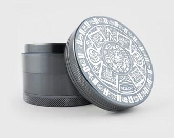 "Herb Grinder | Aztec Sun | 2.5"" Custom Grinder - TOTEM™ Series"