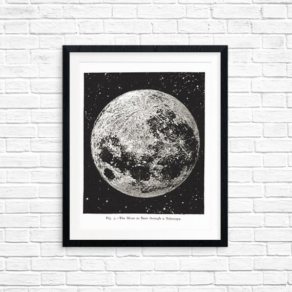 Printable Art, The Moon, Spiritual Symbol Art, Art Printable, Home Decor, Digital Download Print