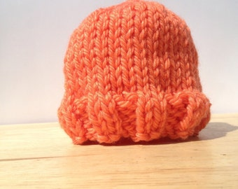 Newborn Knit Hat, Knit Baby Hat, Baby Shower Gift, Ready to ship
