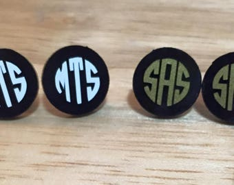 Monogrammed Earrings~Monogram~Earrings~Bachelorette Party Gifts~Bridal Party Gifts~Bride Gifts~Bridesmaids Gifts
