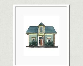 Green House Print