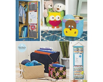 Sewing Pattern for Household Organizers, Simplicity 8309, New 2017 Pattern, Locker Organizers, Organizers Bins
