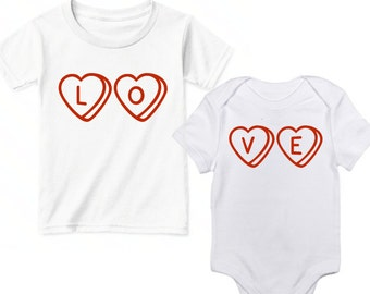 Brother Sister Valentine, Sibling Valentine Shirts, Brother and Sister Matching Outfits, Valentine Shirt Sibling, Big Sister Valentine Shirt