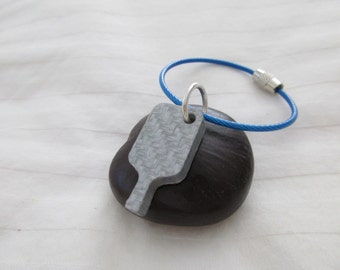 Carbon Fiber Pickleball Key Chain