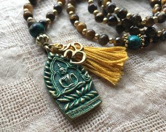 108 Bead Tassel Mala Necklace - Tassel Necklace - Mala Beads - 108 Mala Beads - Yoga Jewelry - Prayer Beads - Japa Mala - Meditation Beads
