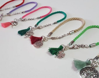 rope bracelet with charms