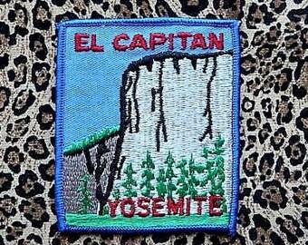 El Capitan -- Yosemite National Park .. Vintage California Souvenir Patch -- Memorabilia