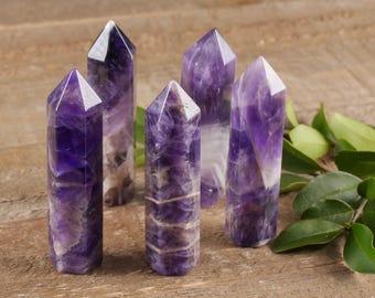 One Dog Tooth AMETHYST Crystal Wand -  Purple Amethyst Quartz Crystal Point, Healing Wand, Amethyst Jewelry, Amethyst Pendant E0223