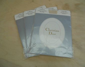 3 pairs of Christian Dior Stockings 5 Denier colour Cosmetique size uk 3-8