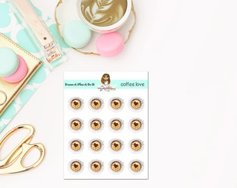 Coffee Love Planner Stickers