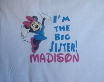 Minnie Mouse Big Sister Shirt