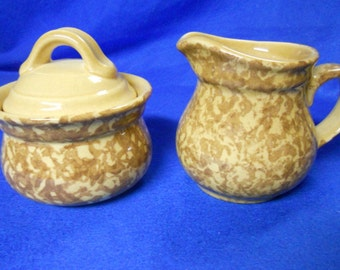 "Pfaltzgraff ""America"" sugar bowl (022) and creamer (024) - Made in USA"