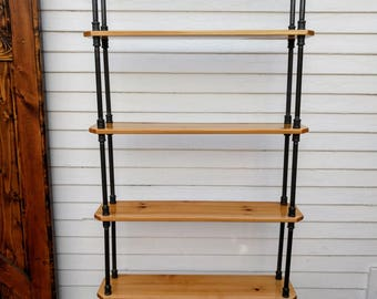 Modern Industrial Bookcase -  5.6 ft Tall