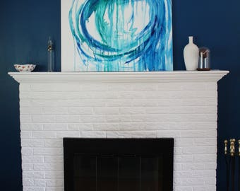 Turquoise 5 // original abstract art // colorful acrylic painting on canvas