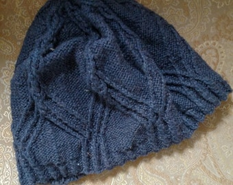 Slouchy Blue-Gray Hat