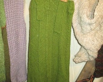 Forest fairy wool dress girls 122-128-134 new wool