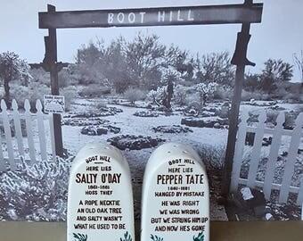 Boot Hill Gravestone Salt and Pepper