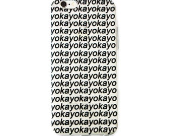 Okay Phone Case | Quote Funny Cute Hipster Aesthetic Tumblr Minimalistic Soft Tpu iPhone 5 5s SE 6 6s Plus