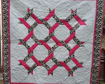 Friendship Chain Patchwork Quilt PDF Pattern Download