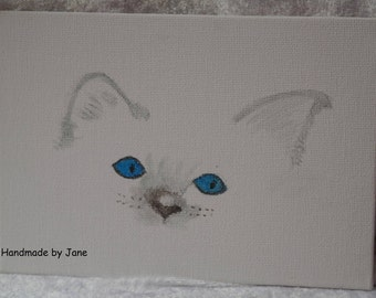 Persian kitten, Beautiful original watercolour