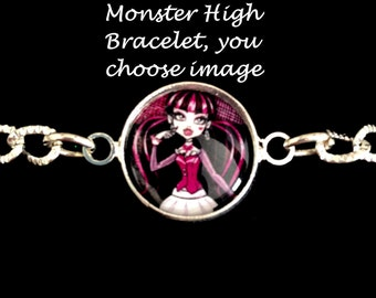 Monster High,bracelet,you choose image,monster high bracelets,monster high jewelry,monster high charms,monster high charm bracelet,earrings