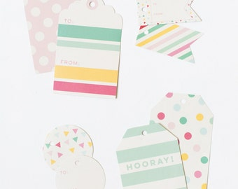12 Hooray Gift Tags | gift wrap | christmas gift | label | wrapping tissue paper | bachelorette birthday gift