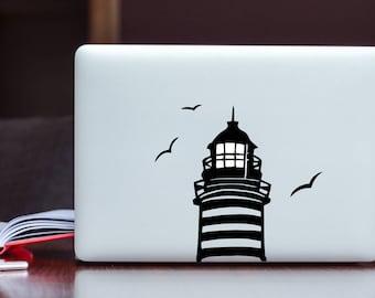 Lighthouse Glowing Apple MacBook Decal / Laptop Decal / iPad Decal vinyl sticker