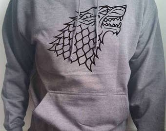 Game of Thrones, house Stark Direwolf logo subtle adults hoodie