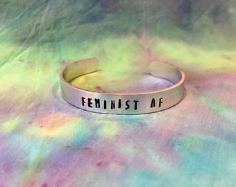 Feminist AF Bracelet - Feminist as F@!K Bracelet - Feminist Jewelry - Feminist Bracelet - Pro Choice - Nasty Woman Jewelry