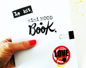 """The """"Mini MOOD Book"""" kit. Created and illustrated by pretty Mess."""