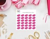 Valentine Kisses Planner Stickers perfect for Erin Condren Life Planner, Kikki K, Filofax Planner, Kate Spade, Happy Planner and more!