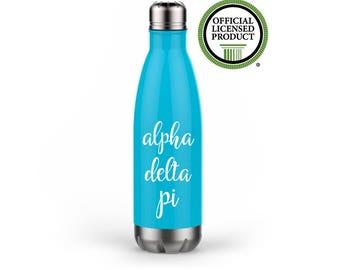 Alpha Delta Pi Water Bottle, ADPi, Sorority, Sorority Gift, Sorority Water Bottle, Greek Water Bottle, Cute Sorority, Greek Gift, ADPi Gift