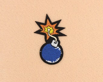 Bomb Patch Iron on Patch DIY Patch Embroidered Patch Applique Embroidery 4.8x7.6cm