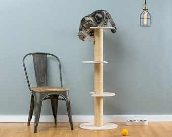 Sisal cat tree Ozzy | WORLDWIDE SHIPPING | Modern Cat Furniture | Climb Tree | Shelf | Toy | Bed | House | Tower