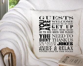 Throw Pillow, Decorative Pillow Cover, Sayings Pillow, 14x14 Pillowcase, White Throw Pillow Cover, Monogram Pillow Custom Throw Pillow