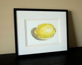 Lemon Study / original watercolour painting