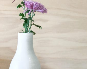 White Bottle Vase