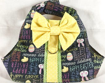 Easter Dog Harness - Easter Pet Harness - Dog Harness - Easter Dog Apparel - Easter Pet Apparel - Holiday Dog--Happy Easter Fabric
