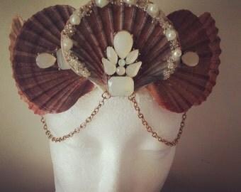 Mermaid, Seashell crown, Beach wedding hair accessories, Mermaid Crown, Seashell headband