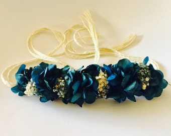 Flower belt preserved blue night