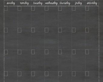 24x36 Monogram Calendar , Dry Erase Calendar , Family Calendar #36.M2.V